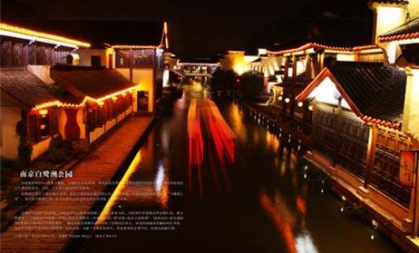 南京白鹭洲公园泛光照明工程案例