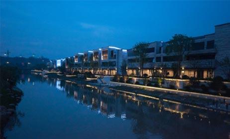 杭州梦想小镇泛光照明工程案例