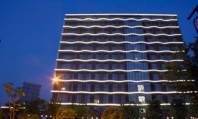 杭州钱塘ONE泛光照明工程案例