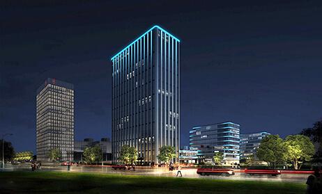 青岛理想之城二标泛光照明工程案例